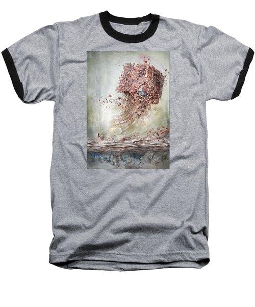 Baseball T-Shirt featuring the digital art Dreamscape Flow No.1 by Te Hu