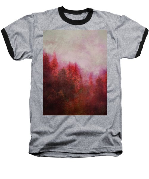 Dreamy Autumn Forest Baseball T-Shirt by Klara Acel