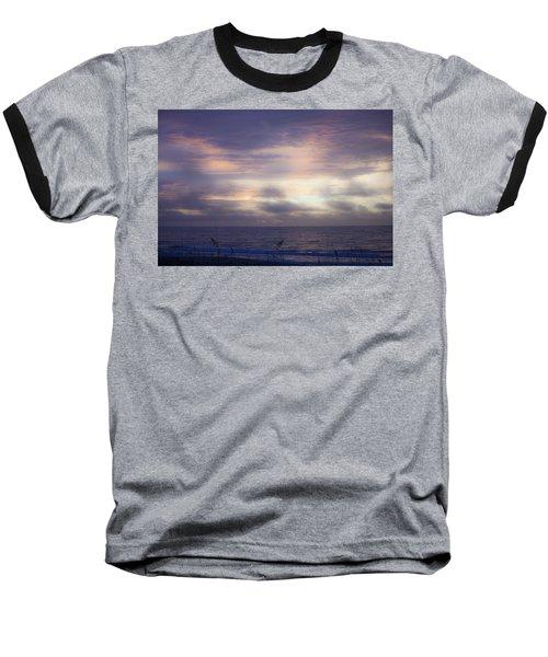 Dreamy Blue Atlantic Sunrise Baseball T-Shirt