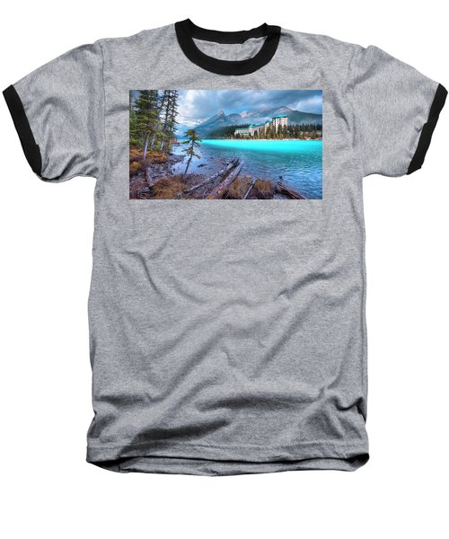 Dreamy Chateau Lake Louise Baseball T-Shirt