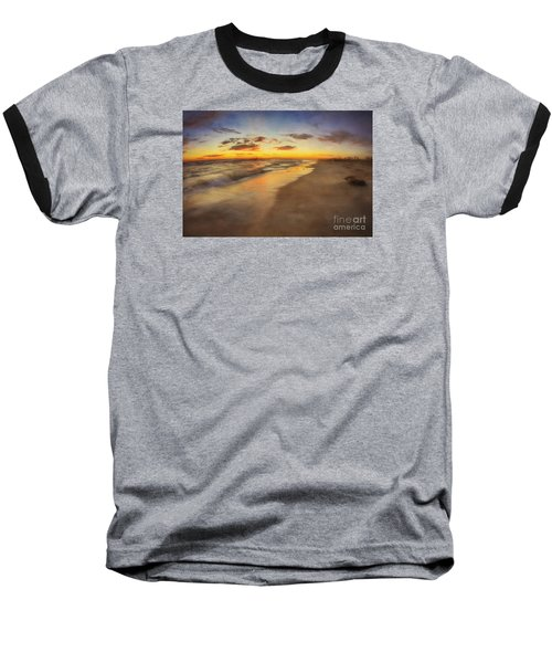Dreamy Colorful Sunset Baseball T-Shirt