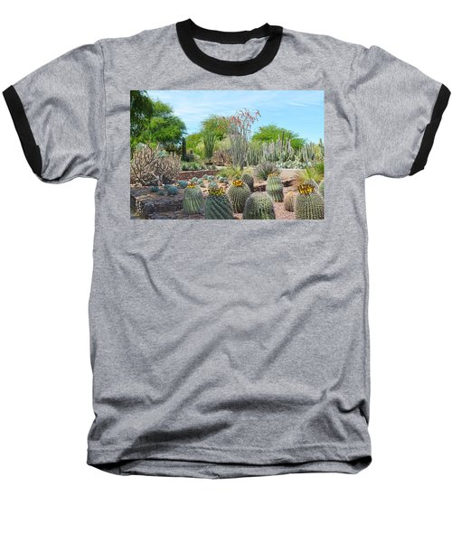 Dreamy Desert Cactus Baseball T-Shirt by Aimee L Maher Photography and Art Visit ALMGallerydotcom