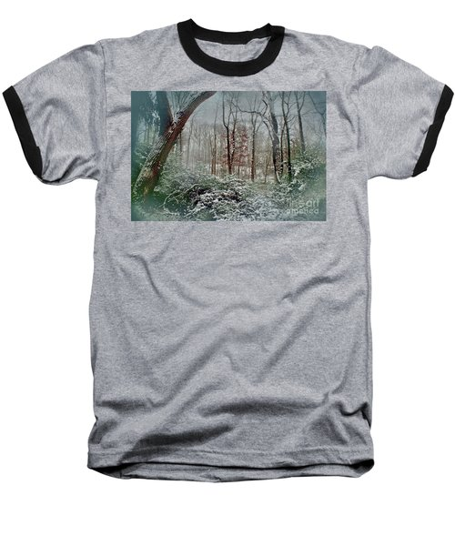 Baseball T-Shirt featuring the photograph Dreamy Snow by Sandy Moulder