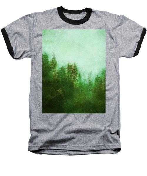Baseball T-Shirt featuring the digital art Dreamy Spring Forest by Klara Acel