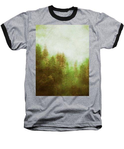 Dreamy Summer Forest Baseball T-Shirt by Klara Acel
