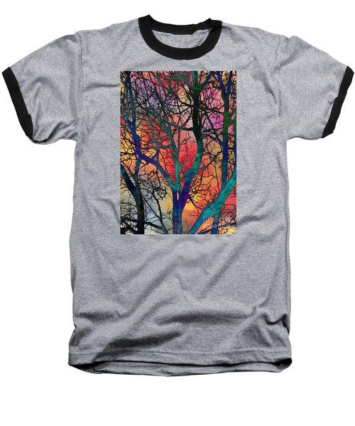 Dreamy Sunset Baseball T-Shirt by Klara Acel