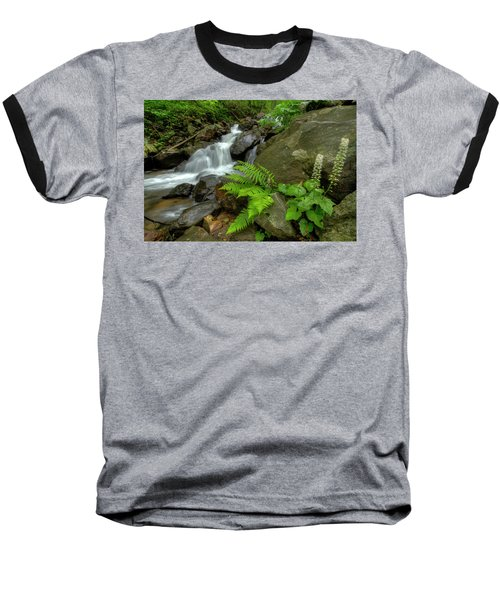 Baseball T-Shirt featuring the photograph Dreamy Waterfall Cascades by Debra and Dave Vanderlaan