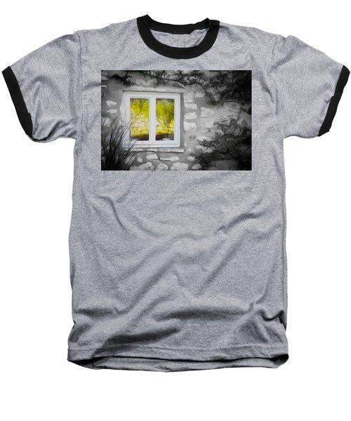 Dreamy Window Baseball T-Shirt by Carol Crisafi