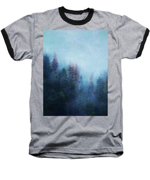Dreamy Winter Forest Baseball T-Shirt by Klara Acel