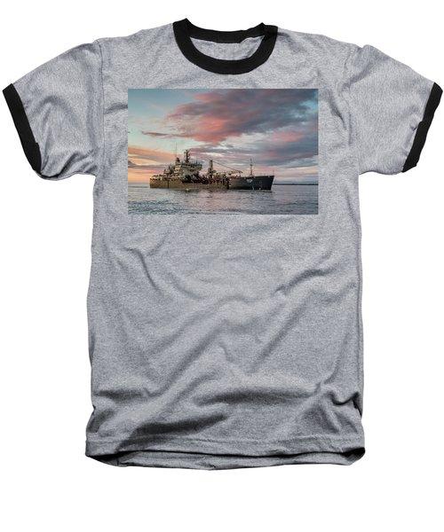 Dredging Ship Baseball T-Shirt by Greg Nyquist
