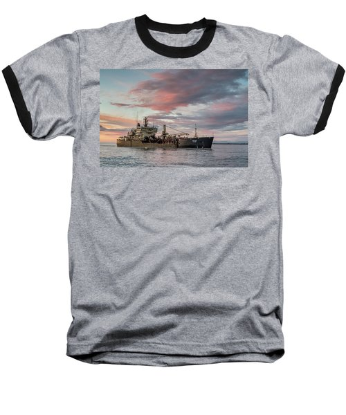 Baseball T-Shirt featuring the photograph Dredging Ship by Greg Nyquist