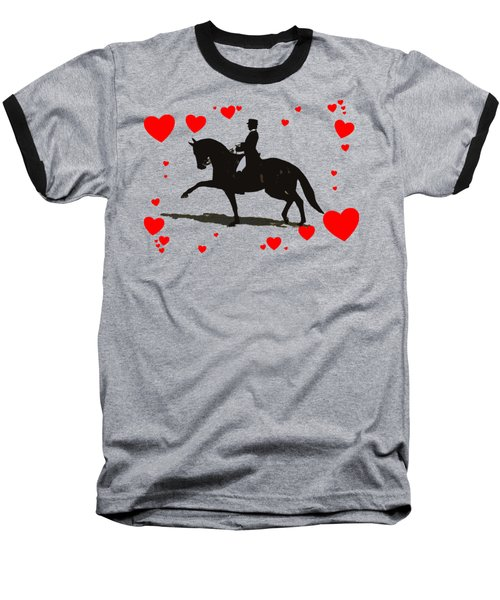 Dressage With Hearts Baseball T-Shirt