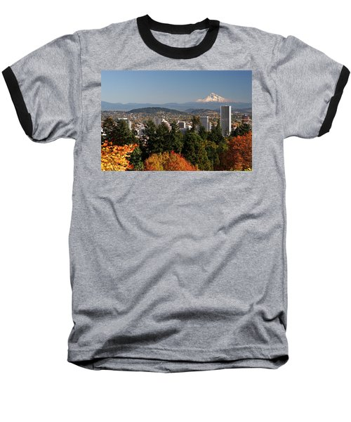 Dressed In Fall Colors Baseball T-Shirt by Wes and Dotty Weber
