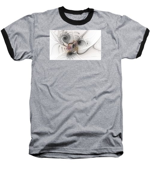Baseball T-Shirt featuring the digital art Dressed In Silk And Satin by Karin Kuhlmann