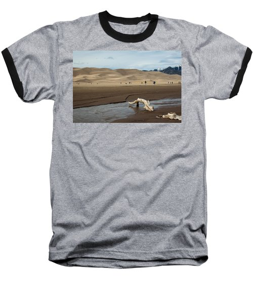 Drift Wood And Dunes Baseball T-Shirt
