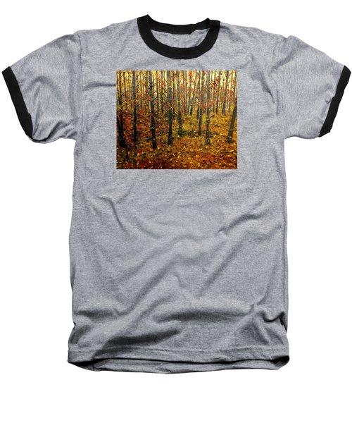 Drifting On The Fall Baseball T-Shirt by Lisa Aerts