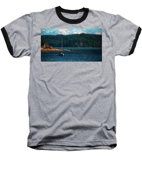 Baseball T-Shirt featuring the digital art Drifting by Timothy Hack