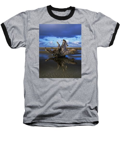 Driftwood And Reflection Baseball T-Shirt