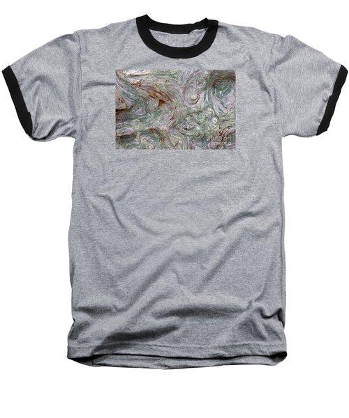 Driftwood Burl Baseball T-Shirt by Chuck Flewelling