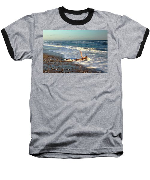 Driftwood In The Surf Baseball T-Shirt