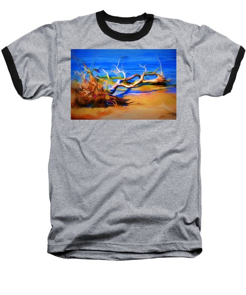 Baseball T-Shirt featuring the photograph Driftwood by Ludwig Keck