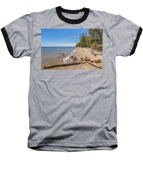 Baseball T-Shirt featuring the photograph Driftwood On The Beach by Charles Kraus