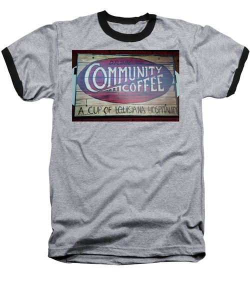 Drink Community Coffee Baseball T-Shirt