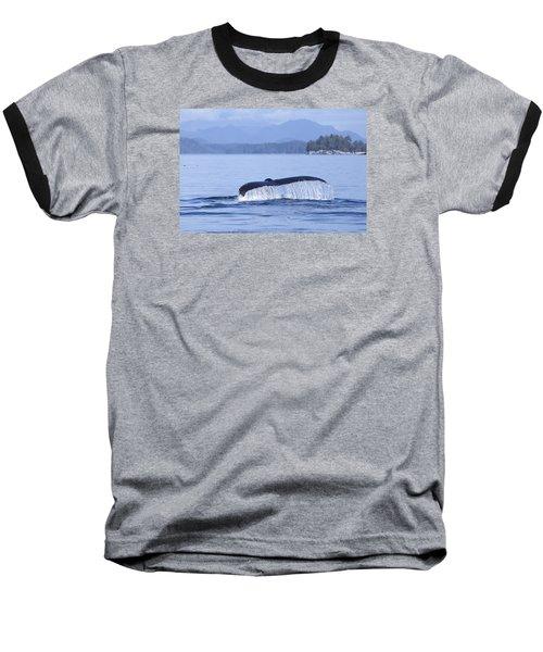Dripping Whale Fluke Baseball T-Shirt