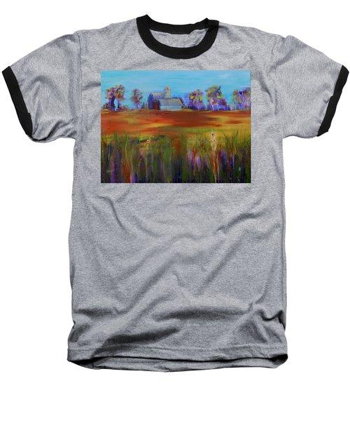 Drive-by View Baseball T-Shirt by Terri Einer
