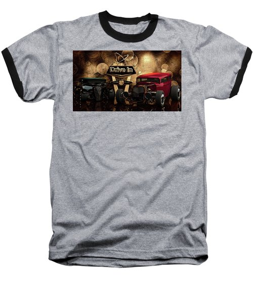 Baseball T-Shirt featuring the photograph  Drive In by Louis Ferreira