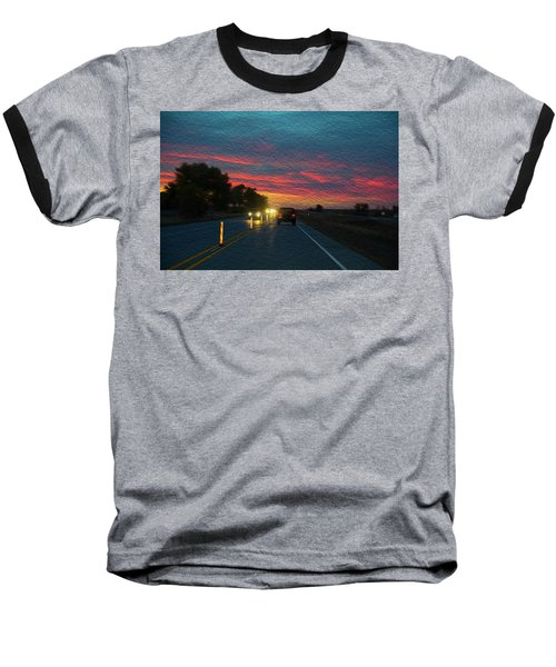 Driving Dusk Baseball T-Shirt