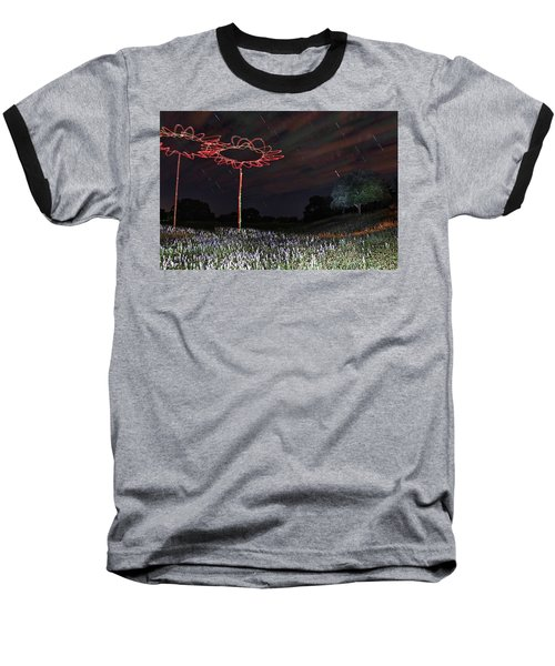 Drone Flowers Baseball T-Shirt by Andrew Nourse