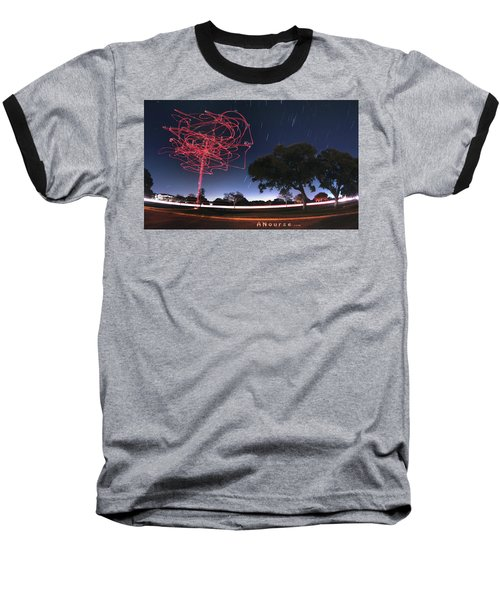 Drone Tree Baseball T-Shirt by Andrew Nourse