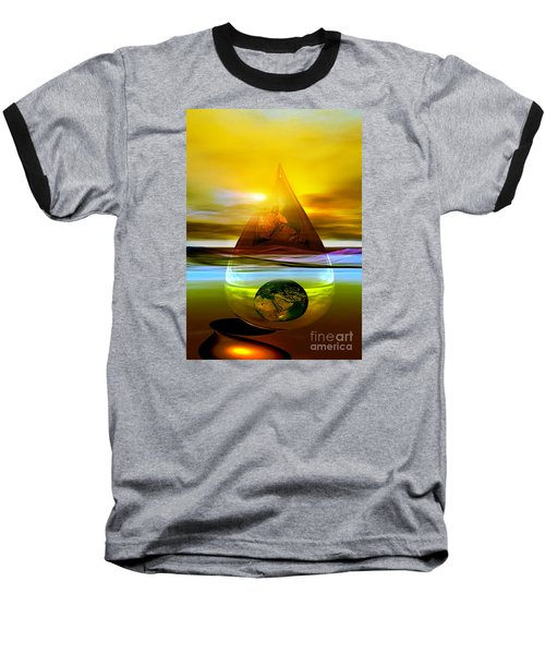 Baseball T-Shirt featuring the digital art Drop Z by Shadowlea Is
