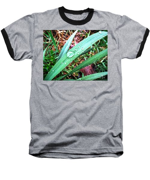 Baseball T-Shirt featuring the photograph Droplets by Robert Knight