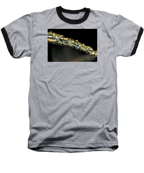 Drops On The Green Grass Baseball T-Shirt by Odon Czintos