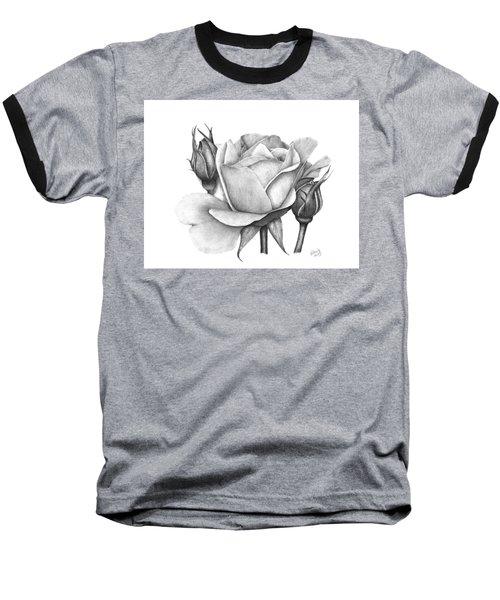Drum Rose Baseball T-Shirt by Patricia Hiltz