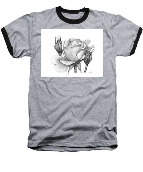 Drum Rose Baseball T-Shirt
