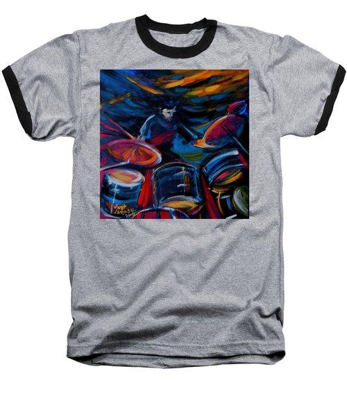 Drummer Craze Baseball T-Shirt