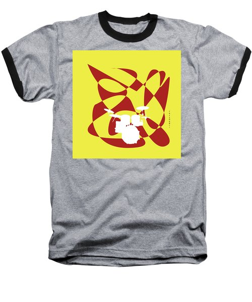 Drums In Yellow Strife Baseball T-Shirt