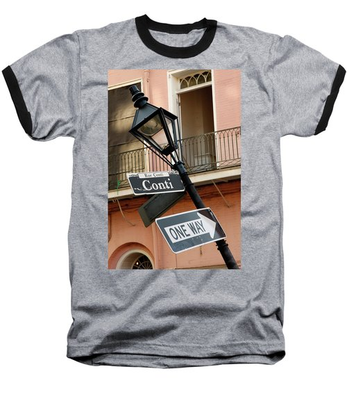 Drunk Street Sign French Quarter Baseball T-Shirt