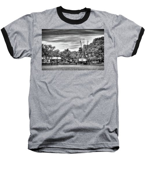 Dry Dock - St. Helena Shrimp Boat Baseball T-Shirt by Scott Hansen