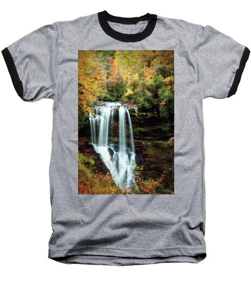 Dry Falls Autumn Splendor Baseball T-Shirt by Deborah Scannell