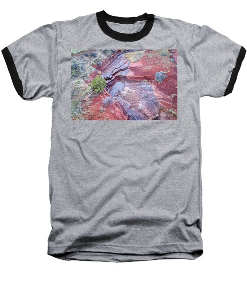 Dry Stream Canyon Areial View Baseball T-Shirt