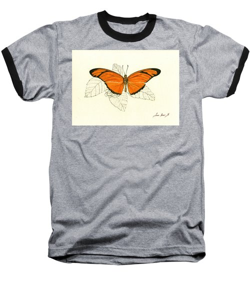 Dryas Iulia, Orange Julia Butterfly Baseball T-Shirt
