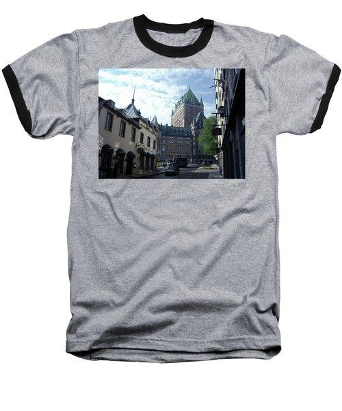 Baseball T-Shirt featuring the photograph du Fort Chateau Frontenac by John Schneider