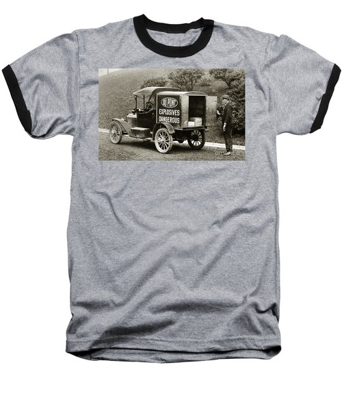 Du Pont Co. Explosives Truck Pennsylvania Coal Fields 1916 Baseball T-Shirt