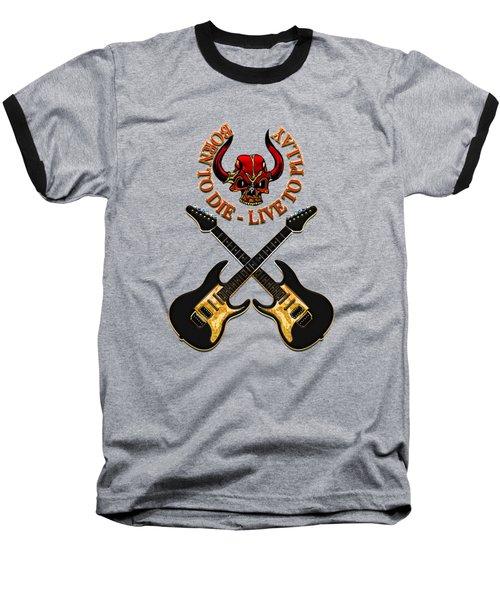 Dual Electric Guitars Baseball T-Shirt