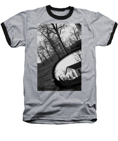 Duality - A Black And White Photograph Symbolically Representing The Gravity Of Choice  Baseball T-Shirt