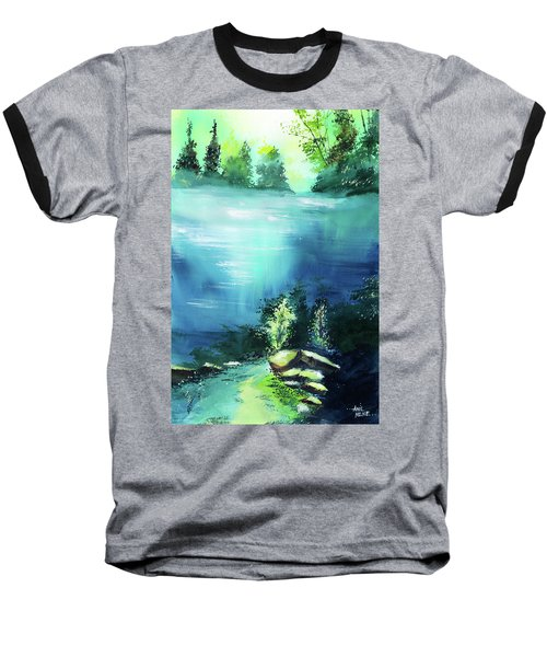 Baseball T-Shirt featuring the painting Duality by Anil Nene